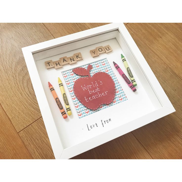 A personal favourite from my Etsy shop https://www.etsy.com/uk/listing/525282091/thank-you-teacher-scrabble-frame