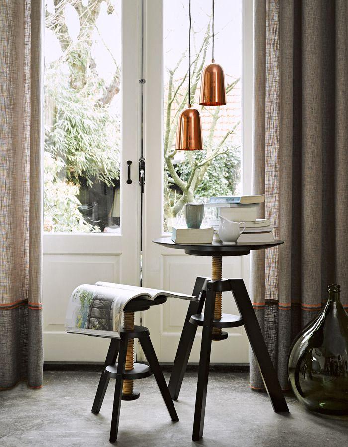 gordijnen woonkamer - linnen twee kleuren