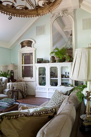 The paint color is sublime: Room Play Room, Stainglass Window, Farmhouse Retreat Mirror, Living Rooms, Scrapbookincolor Blogspot Com, Wall Color, Paint Colors, Bookcases Display, Family Room Play