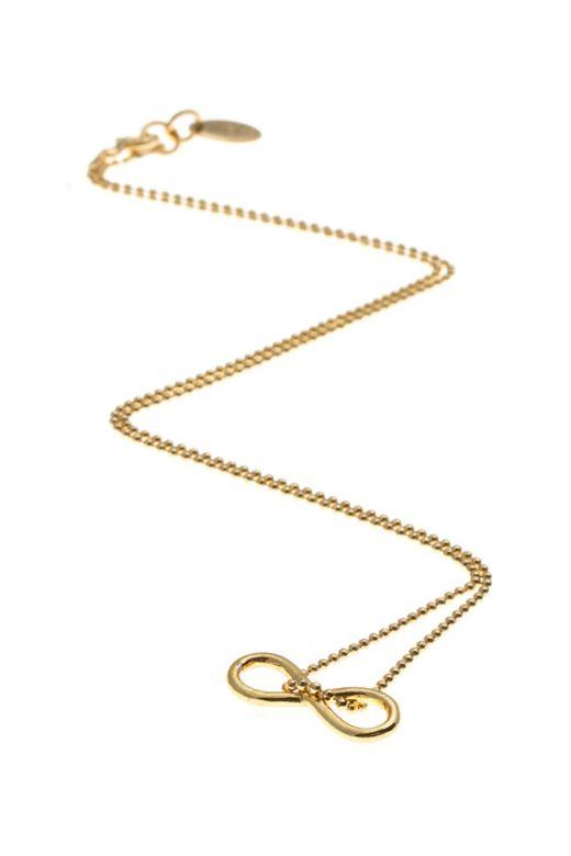 HIT! Złoty znak nieskończoności na złotym łańcuszku! :)