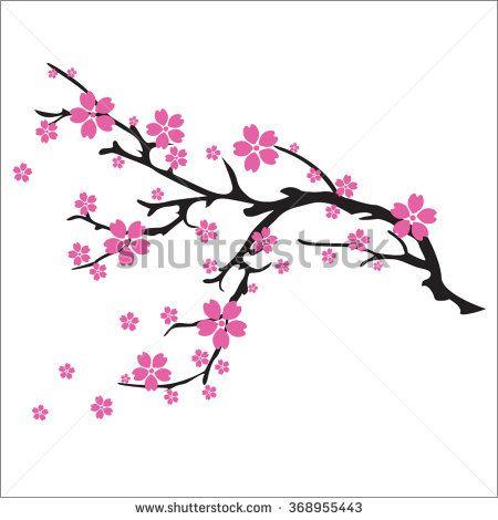 illustration of cherry blossom tree