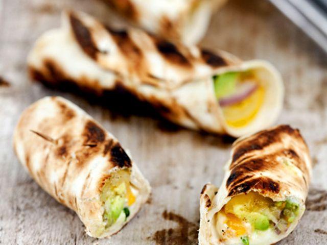 Grillad guacamoletortilla med mozzarella | kock: Lisa Lemke