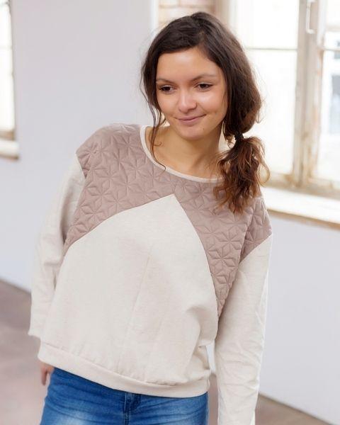 """Pullover """"Trina"""" Stepp Sand Beige von NADESHDA auf DaWanda.com"""