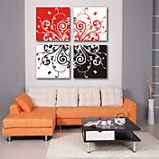 Stretched Canvas Art Abstract Floral Set of 4 – AUD $ 84.90