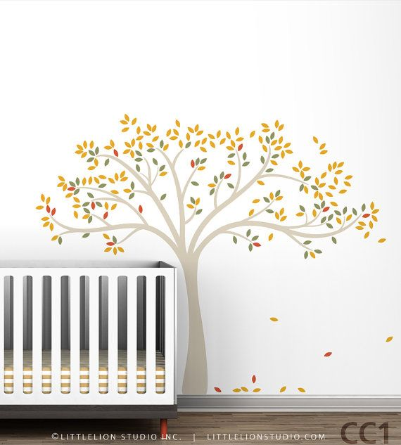 Tweet Tree Wall Decal Birds tree decal Kids by LeoLittleLion