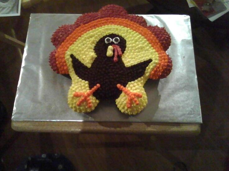 Thanksgiving cupcake cake southern sweet bytes for Ideas for thanksgiving cupcake decorations