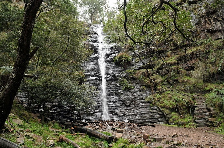 Silverband Falls in the Grampians National Park, Victoria, Australia