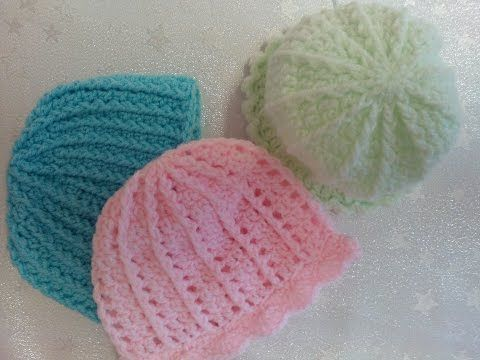 P1 How to Crochet a Preemie Baby Hat Front Post Double Crochet (FPDC) and Double Crochet (dc) - YouTube
