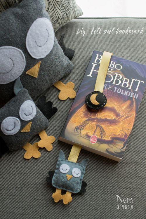 Owl Bookmark Tutorial