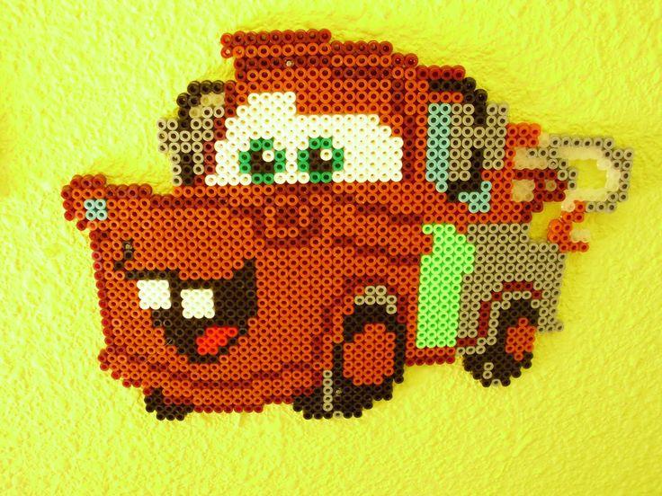 Cars Mater hama beads by Memekan