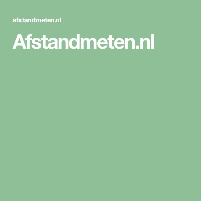 Afstandmeten.nl