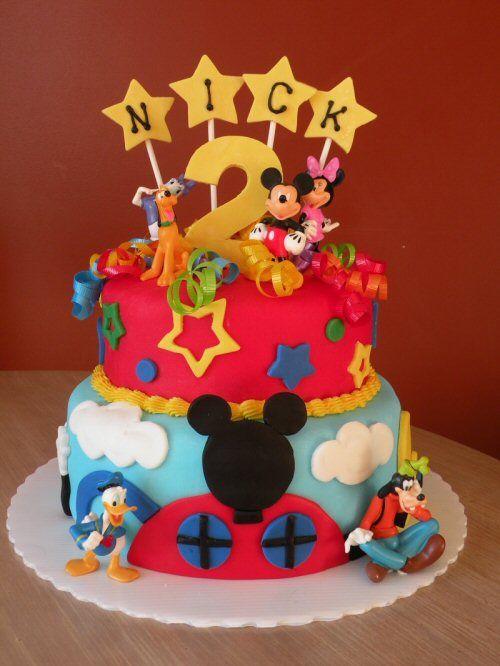 Mickey Goofy Donald Cake