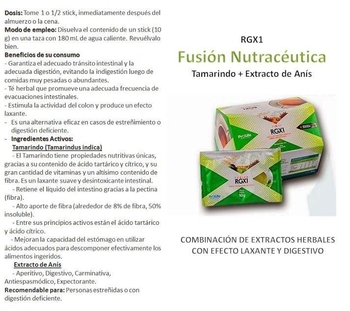 RGX1 - Combinación de extractos herbales con Laxante y digestivo. Para mayor información contactame!!