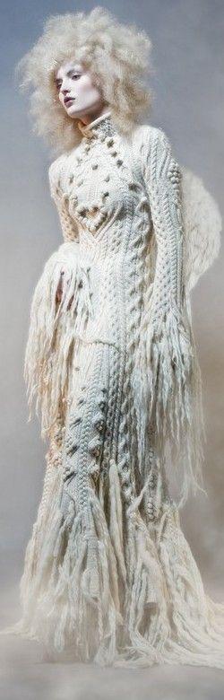 Jean Paul Gaultier maxi dress knit