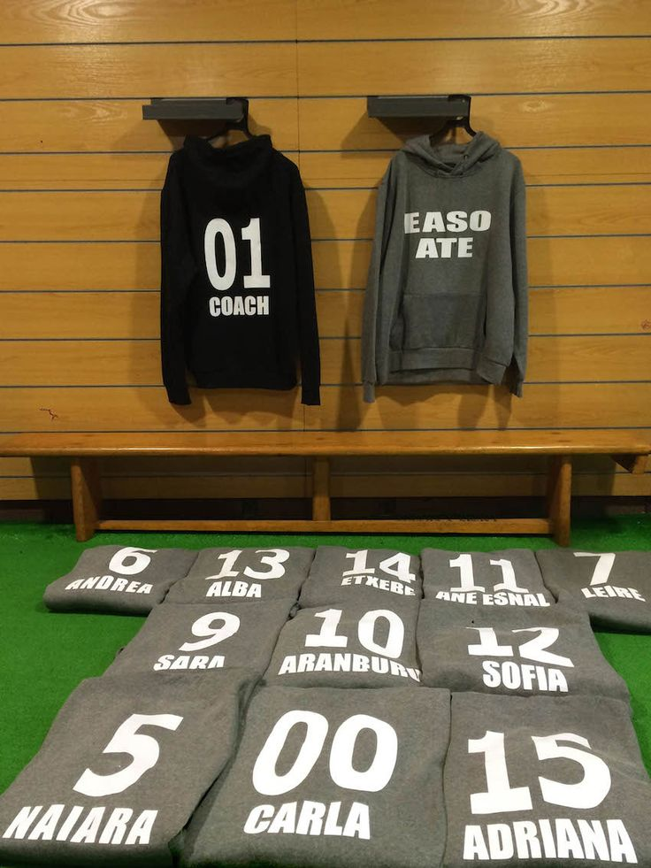 Marcaje de sudaderas equipo Easo Ate baloncesto Liga Vasca Cadete femenino #easosport #marcaje