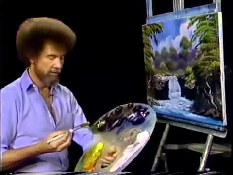 Bob Ross – Malerei nebligen Wasserfall – Malerei Video