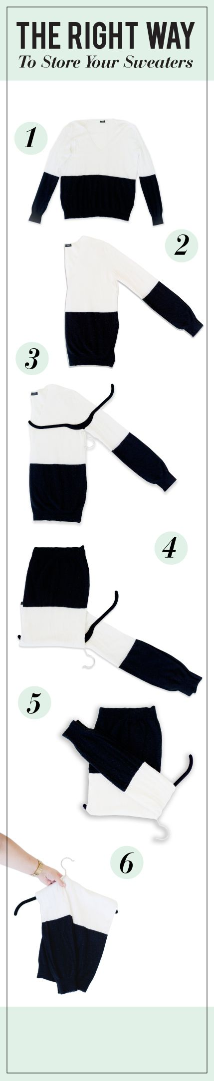 How to store your sweaters - hack