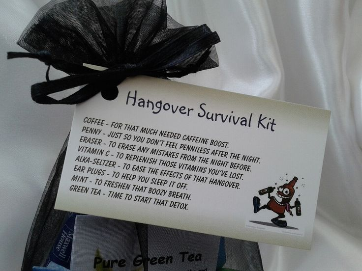 Little BAG of BITS: Hangover Survival Kit - male or female - birthday present, Christmas stocking filler, hen / stag do by CheerUpCrafts on Etsy https://www.etsy.com/listing/164535965/little-bag-of-bits-hangover-survival-kit
