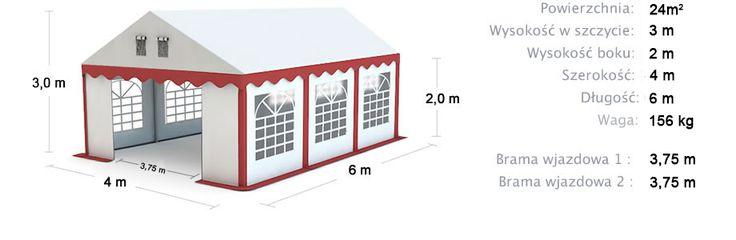 Namiot Handlowy Imprezowy 4m x 6m (24m²) całoroczny STANDARD MAX / Commercial Tent 4x6 Winter