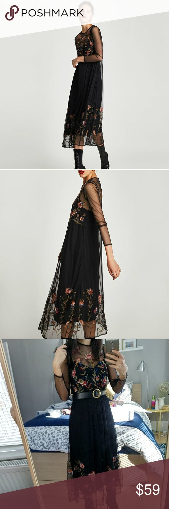 Special dress Lovely dress with flowers. Fixed price Zara Dresses Midi