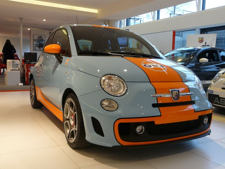 Carscoop: Fiat Abarth 500 Gulf Limited Edition: The Real Photos