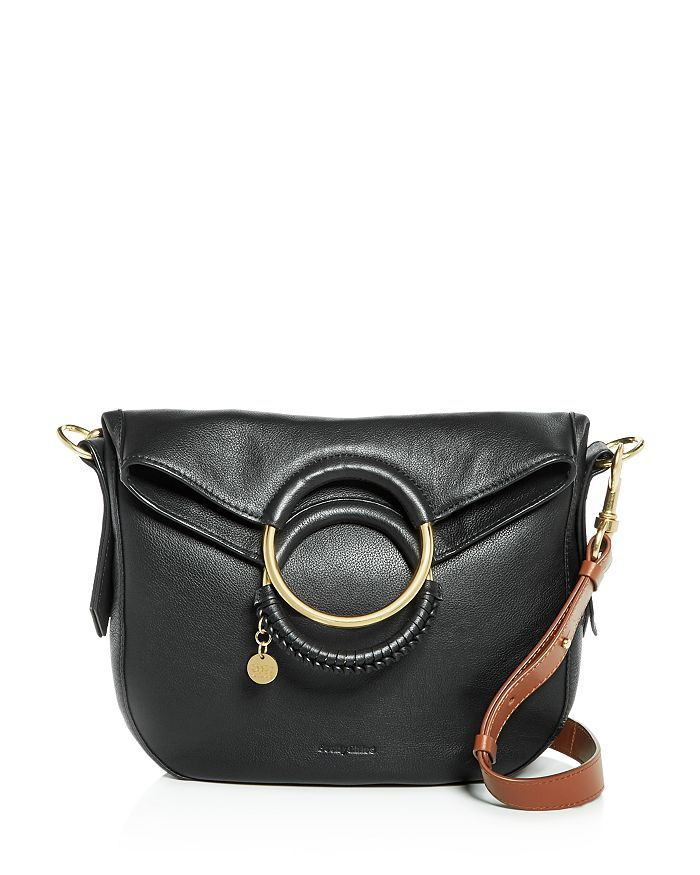 06cff80fc4a See by Chloé - Monroe Ring Handle Convertible Leather Shoulder Bag ...