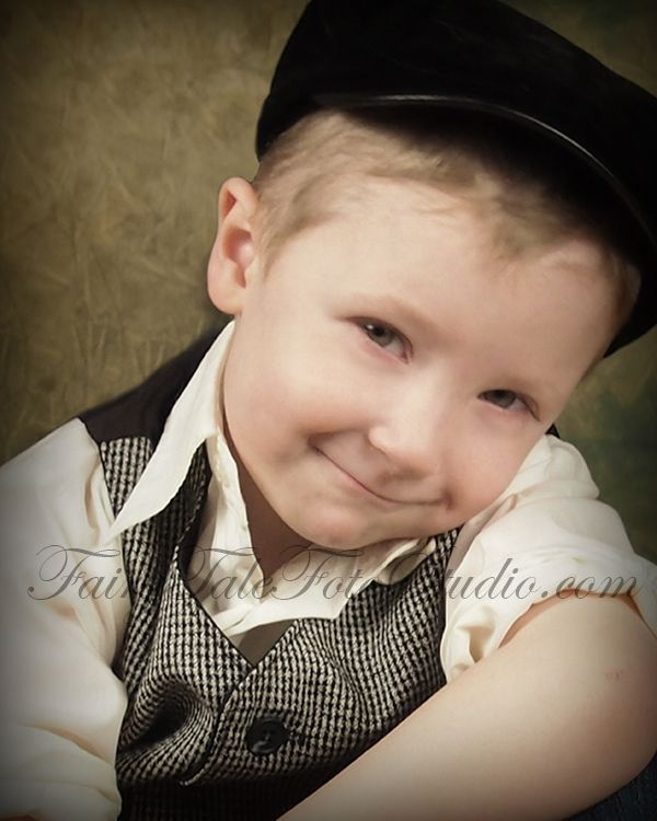 Old Fashioned Vintage Style Year Boy Portrait Poses