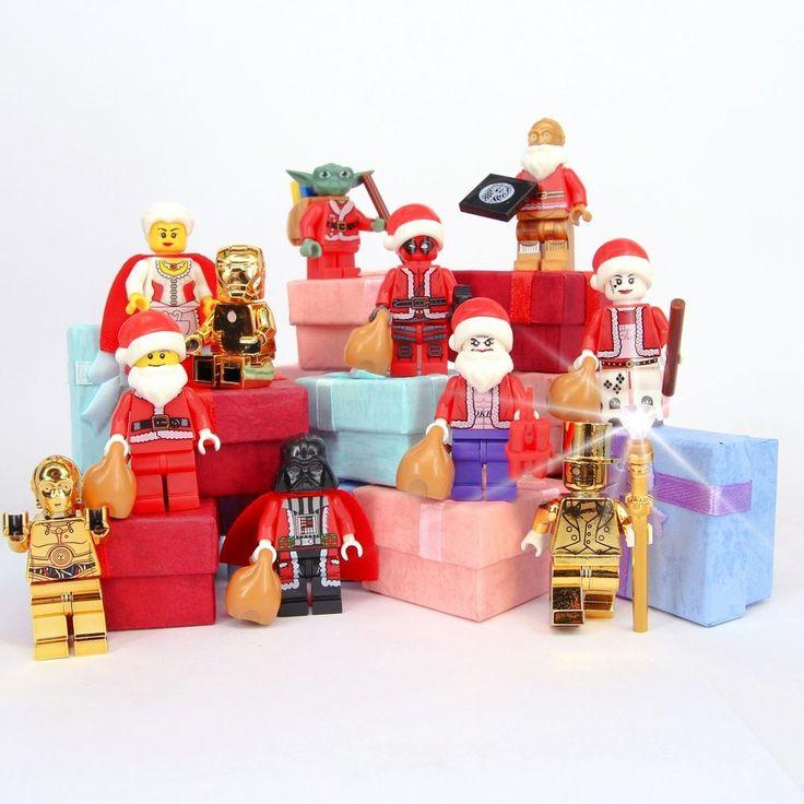 Marvel Star Wars Minifigures Mr Gold Deadpool Darth Vader Yoda Joker Custom Lego