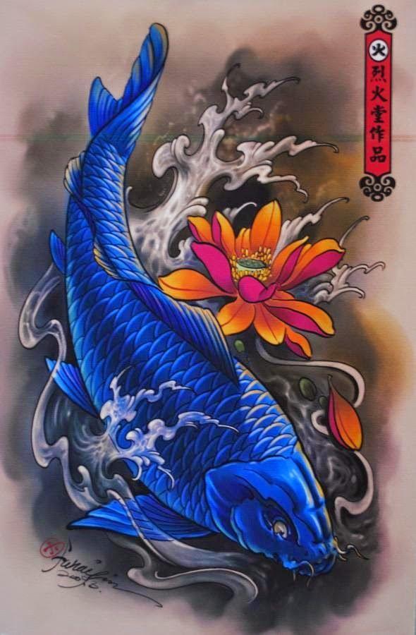 Tatuajes de carpas: colores y significado. | Belagoria