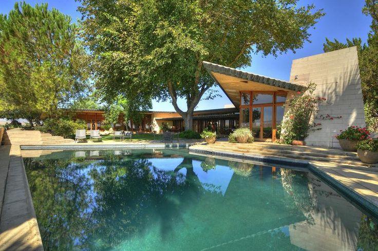The Fawcett House, Los Banos, California. Frank Lloyd Wright. 1961