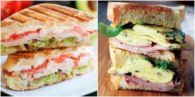 Vemale.com - Tidak sempat sarapan atau masak untuk bekal makan siang? Coba resep mudah membuat sandwich komplit ini.�