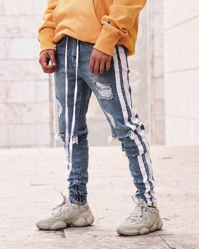 Pants Honest 2018 New Fashion Hot Popular Mens Casual Pants Slim Fit Straight Leg Jeans Solid Business Pencil Trousers Yet Not Vulgar