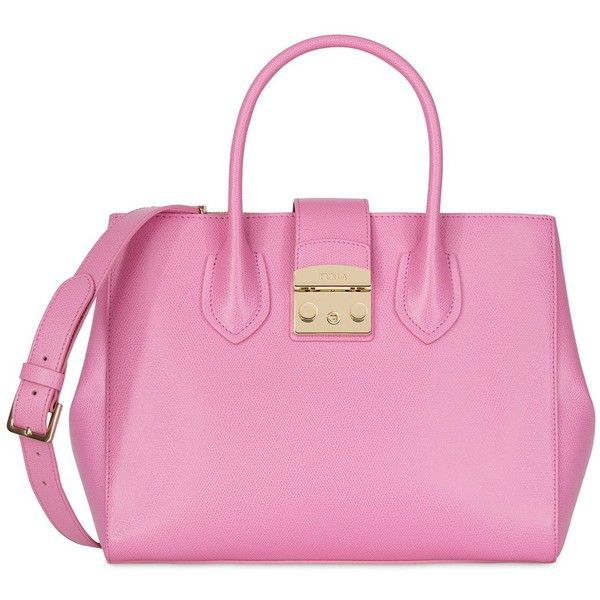 Furla Handbag ($448) ❤ liked on Polyvore featuring bags, handbags, shoulder bags, light purple, leather doctor bag, pink purse, leather handbags, furla purses and pink leather handbags