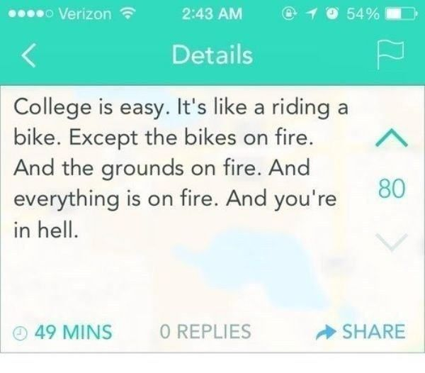 Funny Quotes About College: Best 20+ Funny College Quotes Ideas On Pinterest