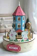Mumintroll Muumi Moomin Valley Wooden Rotating Music Box with Lights Brand NEW