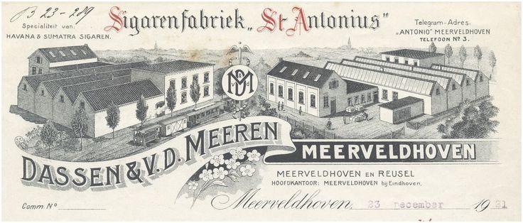 Dassen & v.d. Meeren. Sigarenfabriek St. Anthonius