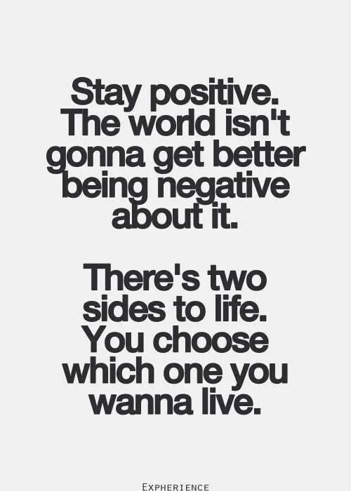 Often being positive is tough, but our mood does colour how we view the world. Learning to think positive grows easier in time