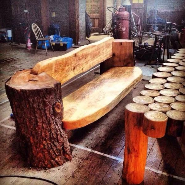 Pin By Michal Cybulski On Log Furniture Rustic Log
