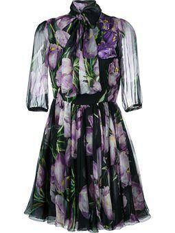 прозрачное платье с узором в виде тюльпанов