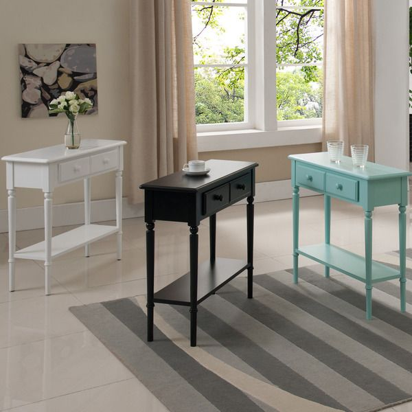 Coastal Narrow Hall Stand/Sofa Table With Shelf $150                                                                                                                                                                                 More