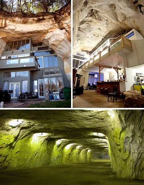 Wanna live in Festus, MO? Incredible house built in 15,000 sq ft cave - three freshwater springs, 14 waterfalls, and tons o' awesomeness
