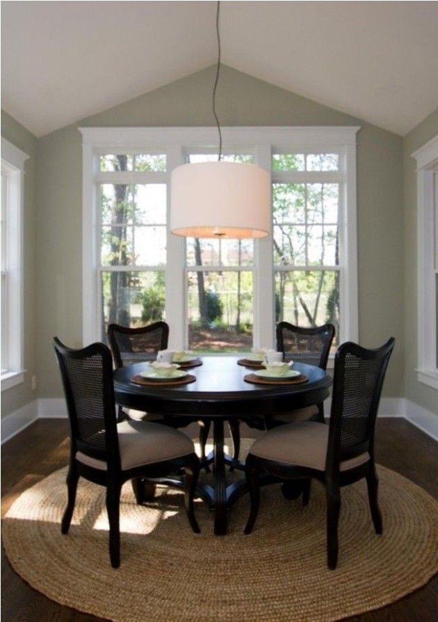Small round dining tables for big style statement paint for Big table small dining room