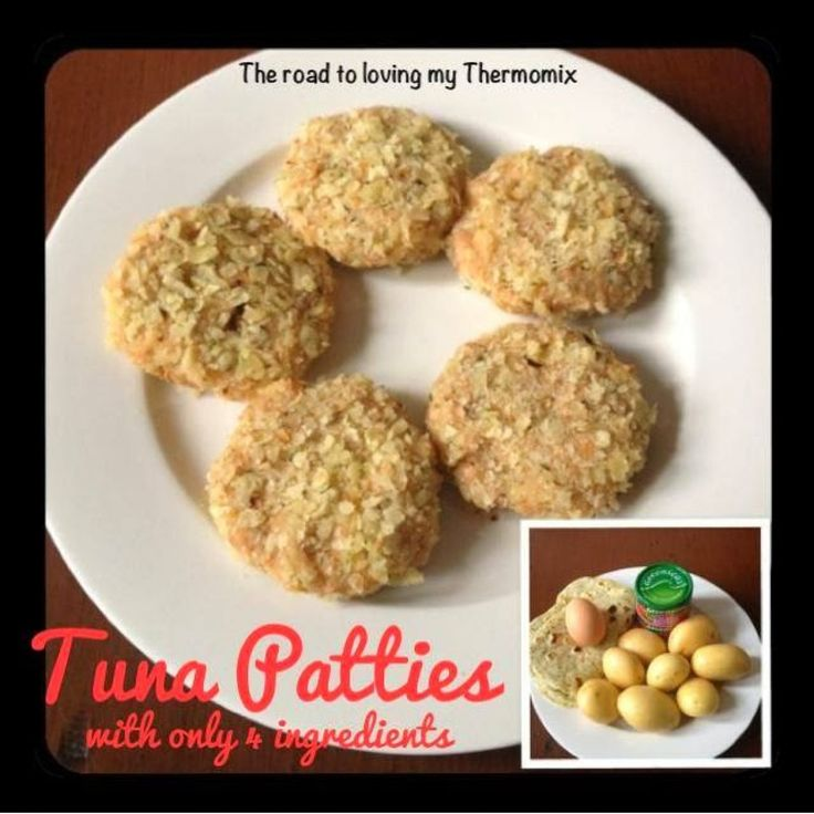 Look out 4 Ingredient ladies! Haha  This is a great recipe to use up those surplus little tins of Tuna in the pantry. Because there is so much flavour in the tuna you don't need lots of other ingredients to make these tasty.  You can add extra vegetables to them but I serve these with salad so