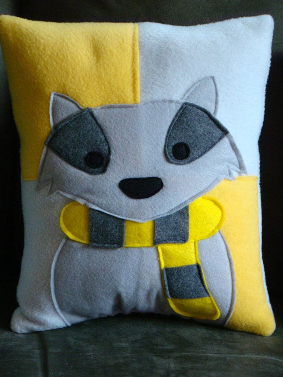 Harry Potter house mascot pillows by telahmarie on Etsy