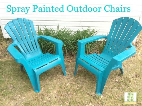 Spray Paint Your Outdoor Plastic Chairs For A Beautiful And Fun Summer DIY  Project! Part 42
