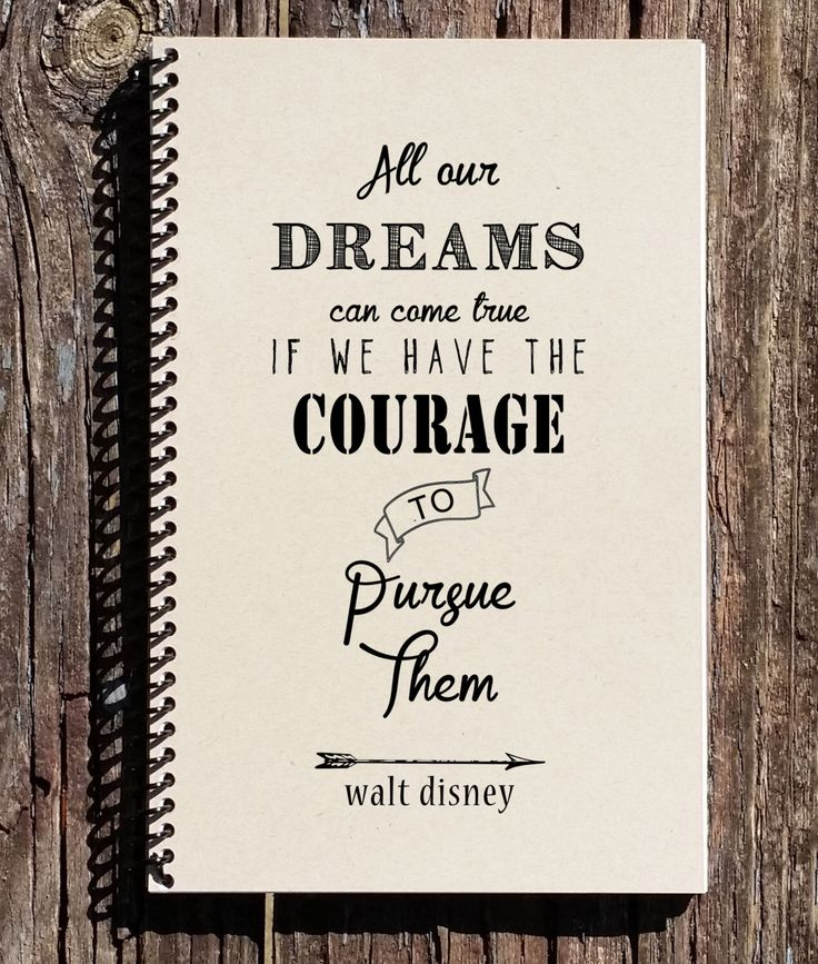 Walt Disney Quote - Disney Notebook - All Our Dreams Can Come True - Walt Disney Journal - Dreams Journal by CulturalBindings on Etsy https://www.etsy.com/listing/229995842/walt-disney-quote-disney-notebook-all