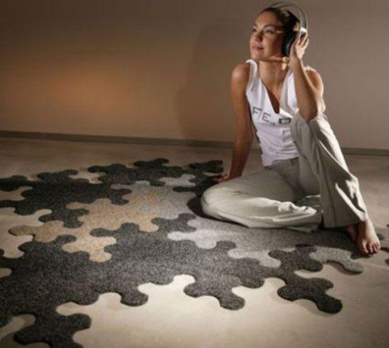 teppich design aus puzzle stücken