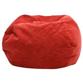 The Laid Back Style Of This Microfiber Faux Suede Bean Bag Chair Is Perfect Match For A Dorm Room Small Spaces And More