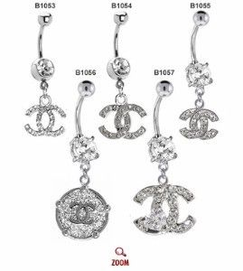 Chanel Belly Button Rings ♥ - Click image to find more Hair & Beauty Pinterest pins: Fashion, Buttons Piercing, Belly Rings3, Belly Rings Chanel, Chanel Belly Buttons Rings, Belly Button Rings, Bellybutton Rings, Jewelry, Things