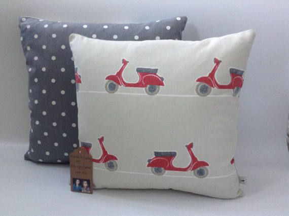 Two Ugly Sisters  Handmade Red Scooters Cushion Scooter